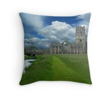 A Ghost of an Abbey  Throw Pillow