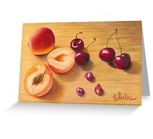 apricots and cherries Greeting Card