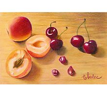 apricots and cherries Photographic Print