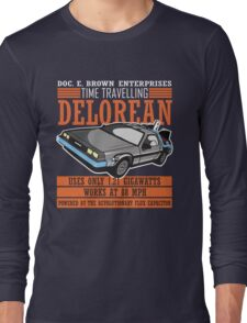 Doc E. Brown Time Travelling Delorean Long Sleeve T-Shirt