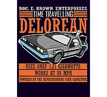 Doc E. Brown Time Travelling Delorean Photographic Print
