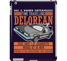 Doc E. Brown Time Travelling Delorean iPad Case/Skin