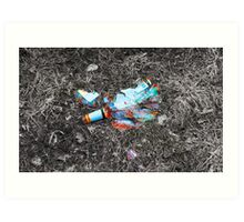 Broken Bottle Art Print