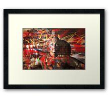 Urban chameleon Framed Print
