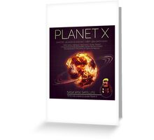 PLANET X NIBIRU INFOGRAPHIC Greeting Card