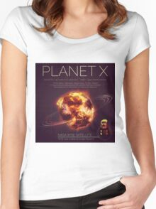 PLANET X NIBIRU INFOGRAPHIC Women's Fitted Scoop T-Shirt