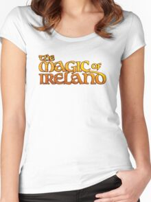 The Magic of Ireland logo Women's Fitted Scoop T-Shirt