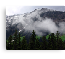 Clouds in the Valleys Canvas Print