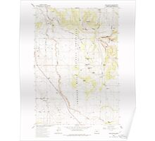 USGS Topo Map Oregon Buck Butte 279168 1985 24000 Poster