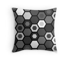 Black and White Hexagons Throw Pillow