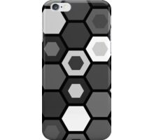 Black and White Hexagons iPhone Case/Skin