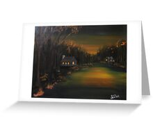 Golden Dusk Greeting Card