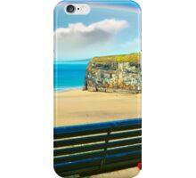beautiful beach with rainbow in ballybunion iPhone Case/Skin