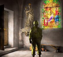 WWII - A prayer for Courage 1940 by Mike  Savad
