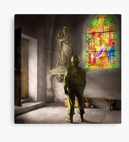 WWII - A prayer for Courage 1940 Canvas Print