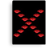 Kiss Lips Canvas Print
