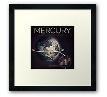 MERCURY INFOGRAPHIC Framed Print
