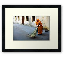 Street sweeper Framed Print