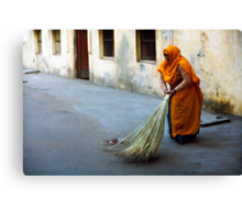 Street sweeper Canvas Print