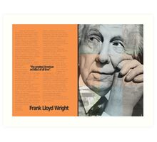 Frank L. Wright Spread (Mock) Art Print