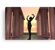 Dawn Yoga Canvas Print