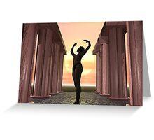 Dawn Yoga Greeting Card