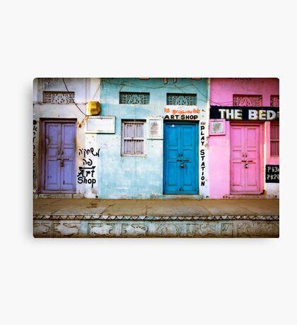 Coloured Doorways Canvas Print