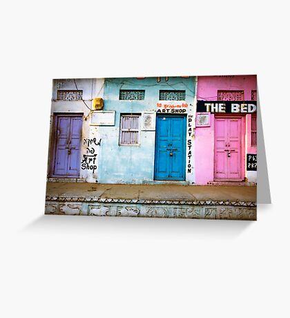 Coloured Doorways Greeting Card