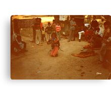 Snake Charmer in Agra Canvas Print