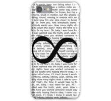 One Direction Infinity Lyrics iPhone Case/Skin