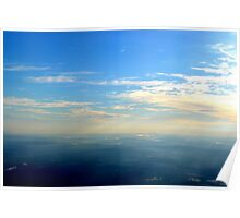 Up Above the World with the Sun Beams Shinning  Poster