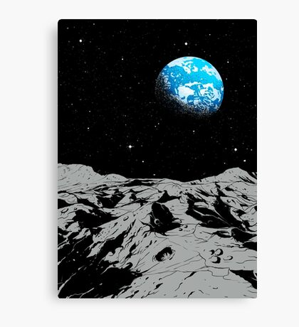 From the Moon Canvas Print