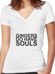Gingers Do Have Souls Women's Fitted V-Neck T-Shirt