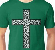 Snow Leopard Cross Unisex T-Shirt