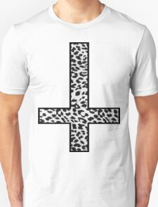 Snow Leopard Cross Inverted T-Shirt