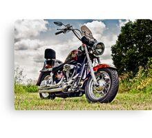 1987 Custom Harley Softail Canvas Print