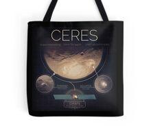 Dwarf Planet Ceres Infographic NASA Tote Bag