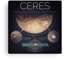 Dwarf Planet Ceres Infographic NASA Canvas Print