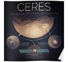 Dwarf Planet Ceres Infographic NASA Poster