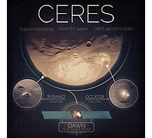 Dwarf Planet Ceres Infographic NASA Photographic Print