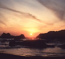 Seal Rock Sunset by Syd Bates