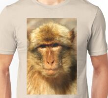 A Rock Ape (Barbary Macaque)  on The Rock of Gibraltar Unisex T-Shirt