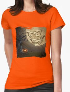 Spooky Time Womens Fitted T-Shirt