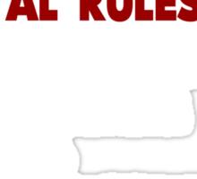 Horror Movie Rules Sticker