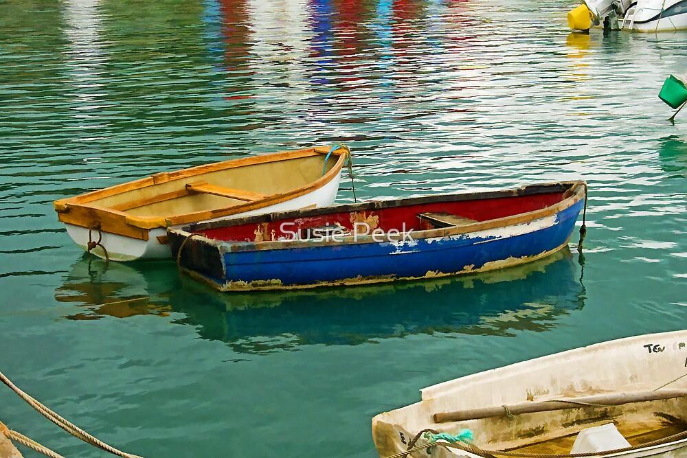 Old Skiffs ~ Lyme Regis by Susie Peek