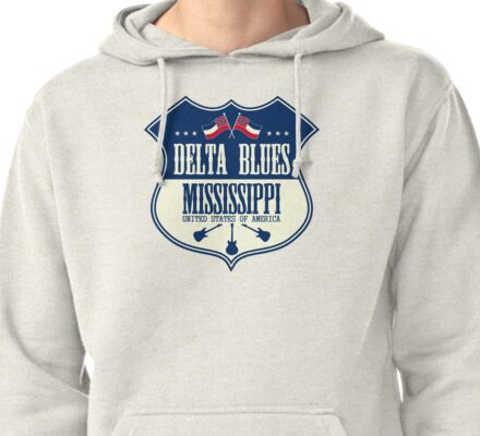 Delta Blues Mississippi Pullover Hoodie