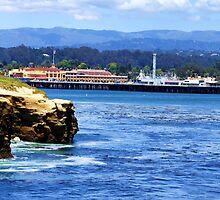 "Santa Cruz Cliffs and Boardwalk by Christine ""Xine"" Segalas"