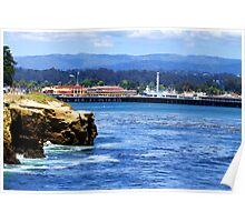 Santa Cruz Cliffs and Boardwalk Poster