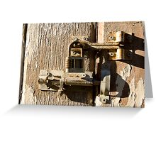 Locked in Combination Greeting Card