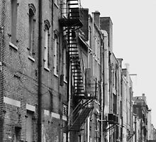 Lovely Alley in black and white by DearMsWildOne